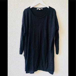 🖤 LOFT 100 % cotton black tunic S